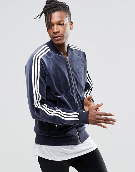 adidas Originals | Adidas Originals - Superstar - Veste de survêtement en velours issue des archives AY9222