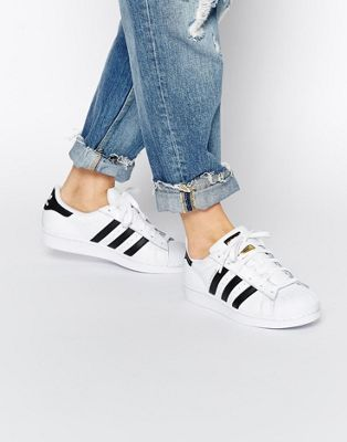 adidas Originals Superstar White & Black Sneakers
