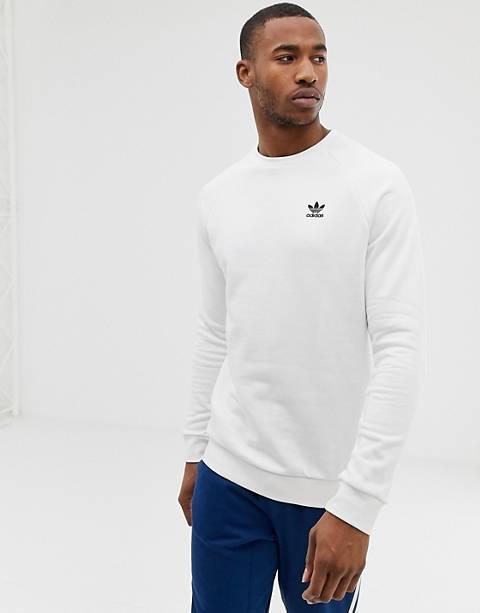 adidas Originals Sweatshirt With Embroidered Small Logo White