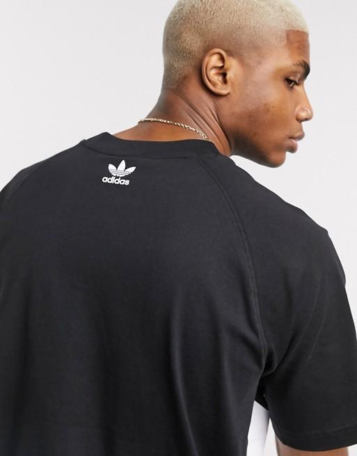 adidas Originals T shirt à logo gros trèfle Noir