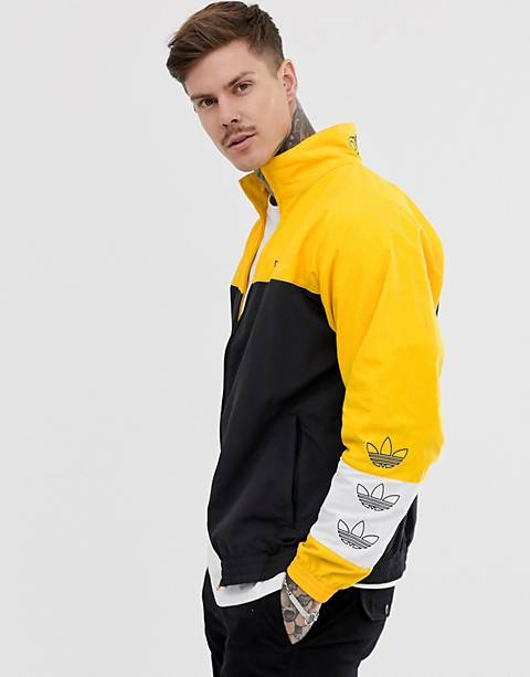 adidas Originals Track Jacket with color blocking in black