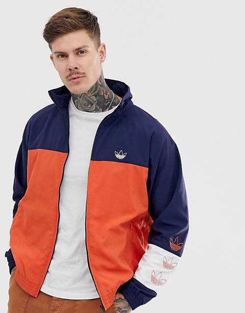 adidas Originals Track Jacket with color blocking in navy
