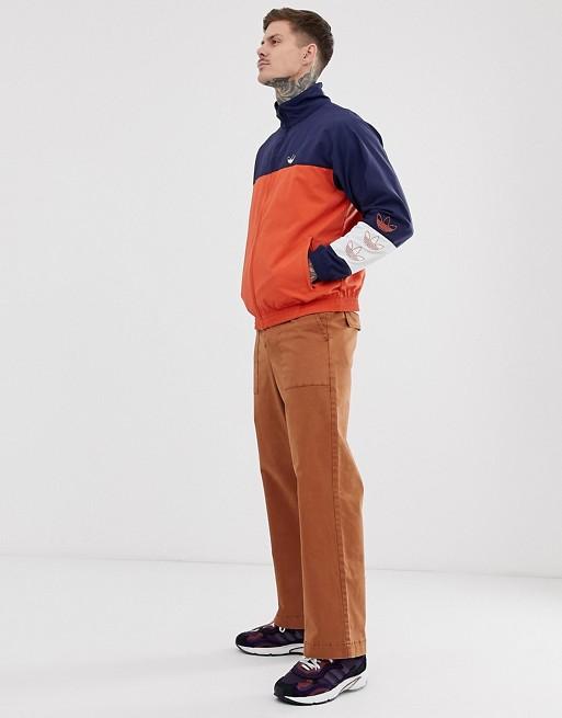Adidas Originals Track Jacket With Color Blocking In Navy by Adidas Originals