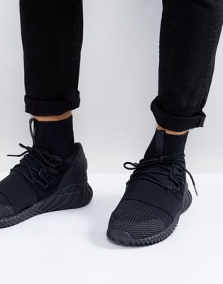 adidas Originals Tubular Doom Primeknit Trainers In Black DA9023