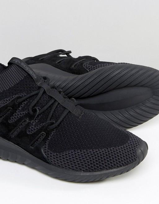online store bdc2e 556fd adidas Originals Tubular Nova Primeknit Trainers In Black S80109