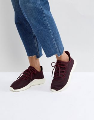 adidas Originals Tubular Shadow Trainers In Burgundy