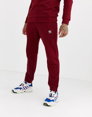 adidas Originals – Weinrote Jogginghose mit Logo-Stickerei