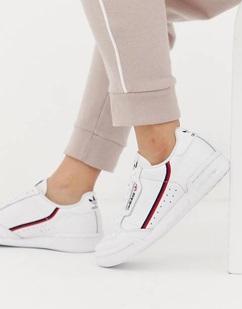 adidas Originals white Continental 80 trainers
