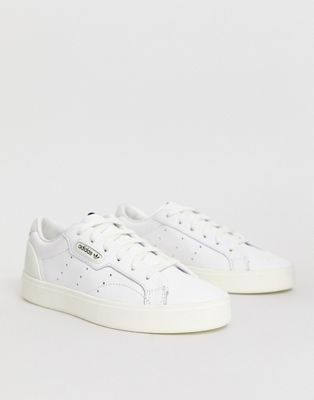 adidas Originals white Sleek sneakers