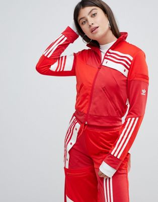 adidas Originals X Danielle Cathari Deconstructed Track Top In Red