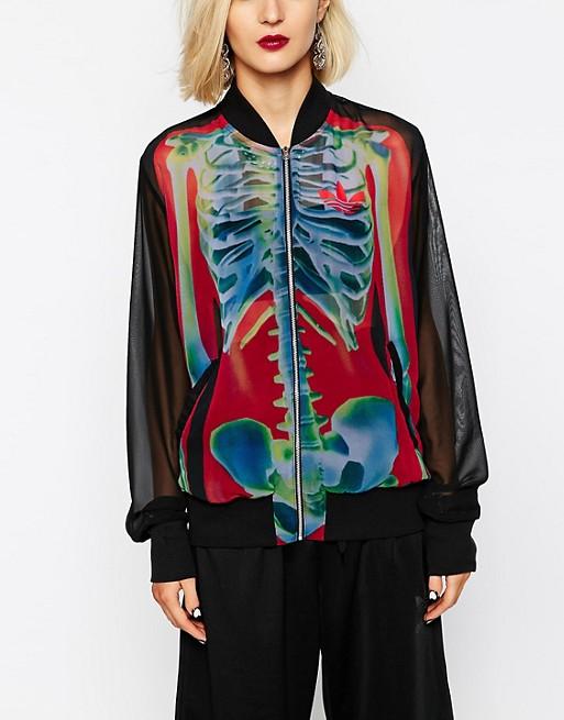 Adidas Originals X Rita Ora Bomber motif squelette