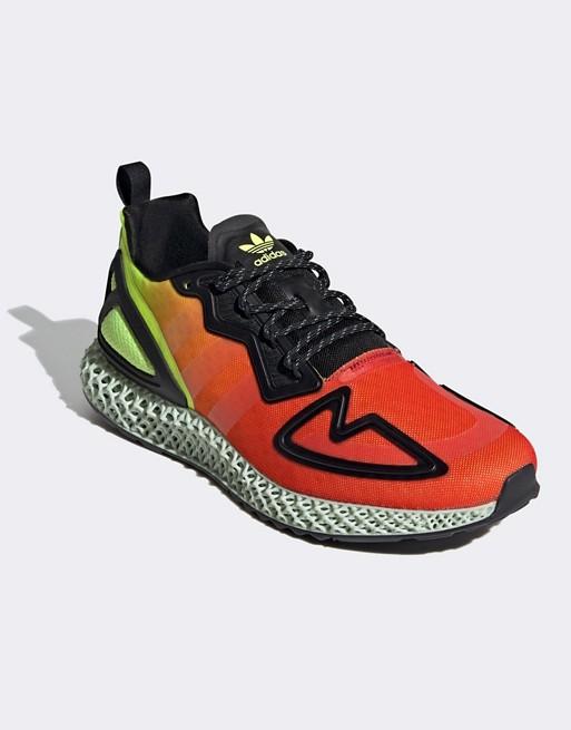 Adidas Originals - Zx 4d Baskets Jaune Électrique