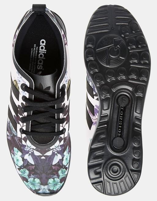 meilleure sélection c9b01 d7bdb Adidas Originals - ZX Flux - Baskets motif fleuri