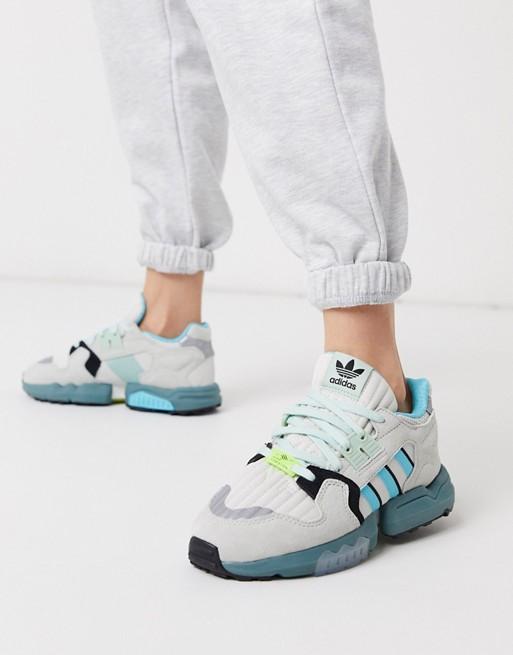 adidas Originals ZX Torsion Baskets Blanc et bleu