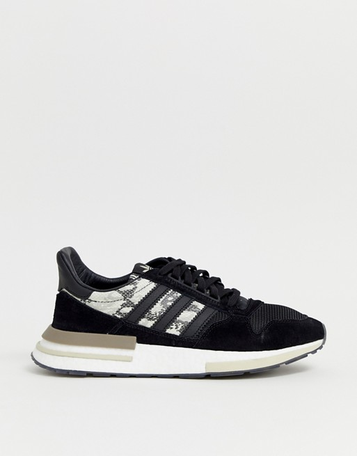 adidas Originals ZX500 RM snake Trainers in black
