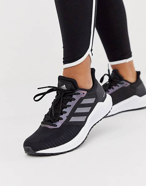 adidas Running solar ride sneakers in black