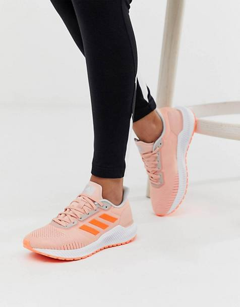 adidas Running solar ride sneakers in pink