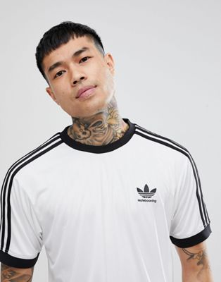 adidas Skateboarding Clima Club Jersey In White CF5797