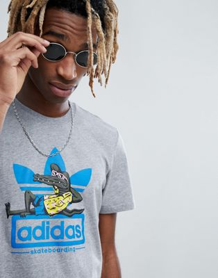 adidas Skateboarding Laid Out T-Shirt In Gray CF3117