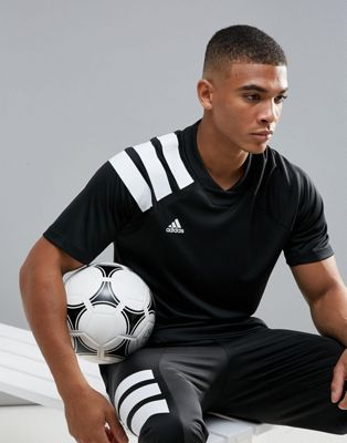 adidas Soccer Training T-Shirt With 90s Print In Black CD1084