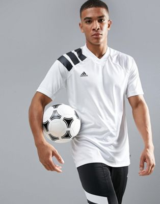 adidas Soccer Training T-Shirt With 90s Print In White CD1092