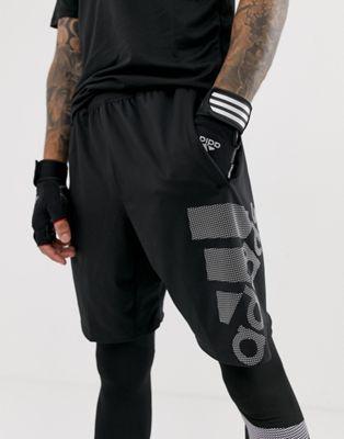 Bild 1 av Adidas – Svarta träningsshorts med logga