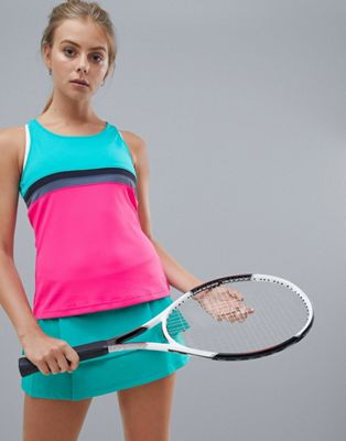 adidas Tennis Club Tank In Colourblock