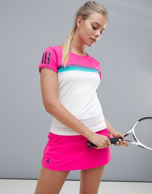 adidas Tennis Short Sleeve Colourblock Tee