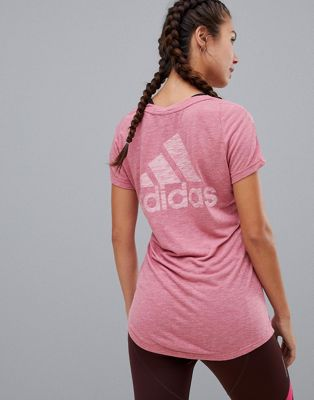 Image 1 of adidas Training Tee With Back Logo In Purple