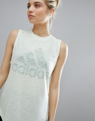 adidas Winners Tank In Pale Green