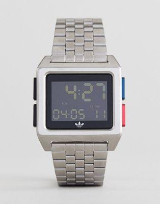 adidas - Z01 Archive - Montre-bracelet digitale - Argenté