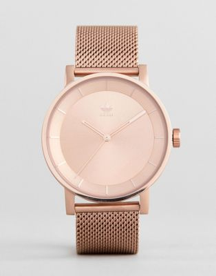 Adidas Z04 District Mesh Watch In Rose Gold