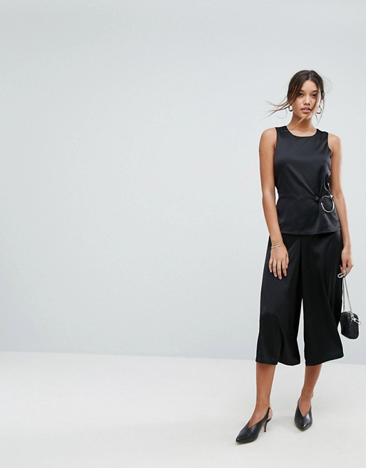 Image 1 of Aeryne Wide Leg Jumpsuit with Ring Detail