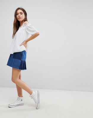 After Market Denim Mini Skirt