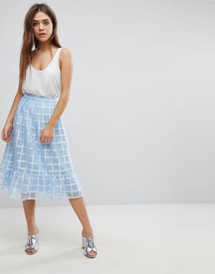 After Market Ruffle Midi Skirt