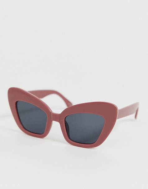 b26ad7b74f AJ Morgan chunky cat eye sunglasses in red