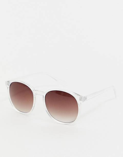 AJ Morgan clear frame cat eye sunglasses