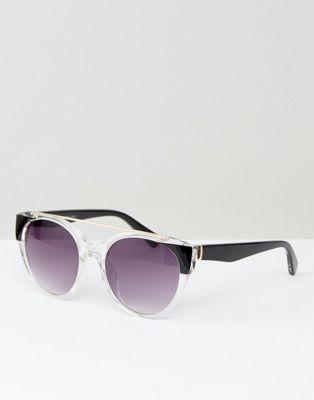 AJ Morgan Crystal Frame Round Sunglasses