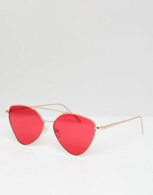 AJ Morgan - Metalen pilotenbril in goud en rood