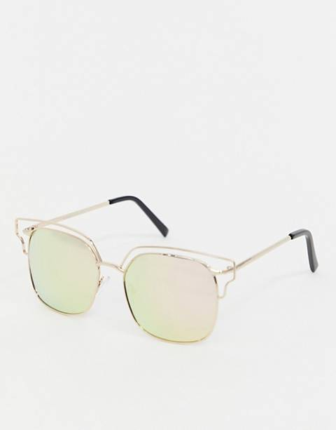 AJ Morgan pink tinted lens aviator sunglasses