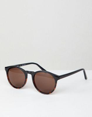 AJ Morgan Ronde zonnebril in vervaagde schildpad-look