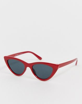 AJ Morgan - Smalle cat-eyezonnebril in rood