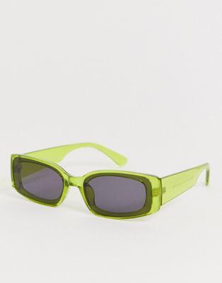 AJ Morgan square sunglasses in yellow