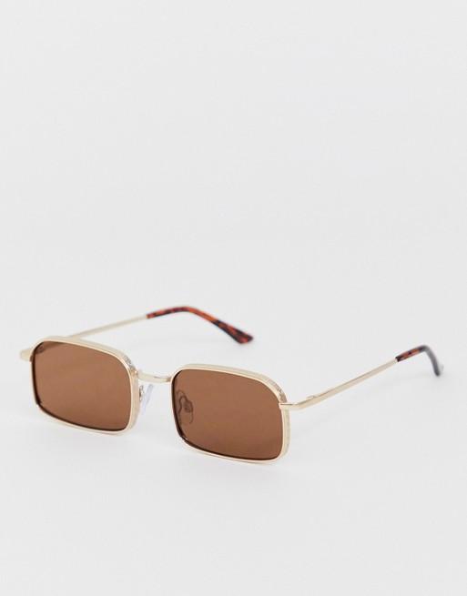 AJ Morgan - Vierkante zonnebril in bruin
