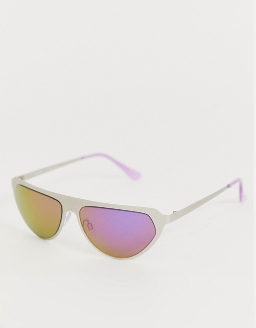 AJ Morgan wrap around sunglasses in silver