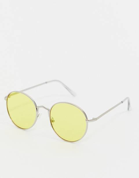 AJ Morgan yellow tinted lens aviator sunglasses