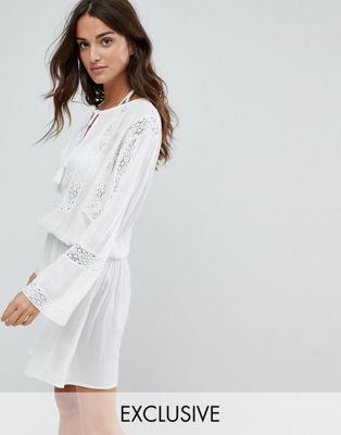 Akasa Crochet Smock Beach Dress