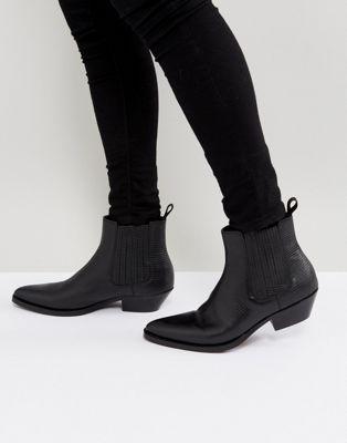 ALDO - Etigovia - Leren chelsea boots in zwart