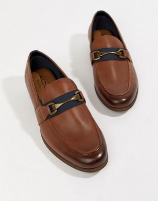 Image 1 of ALDO Gwiradien bar loafers in tan leather