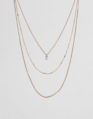 ALDO – Mehrreihige zarte Halskette in Gold